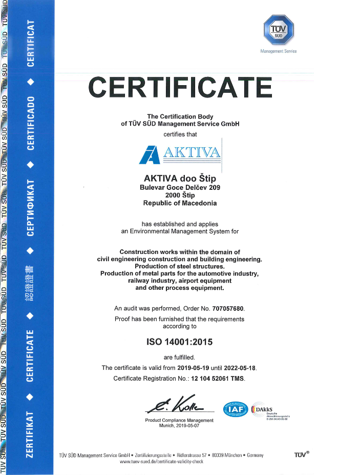 , Quality & Certificates